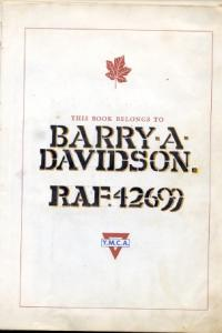Barry Davidson's P.O.W. Logbook